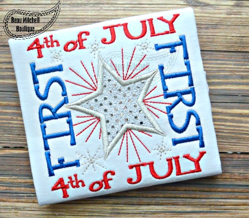 First 4th of July star applique