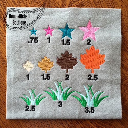 Design Extras- all fill stitch embroidery designs