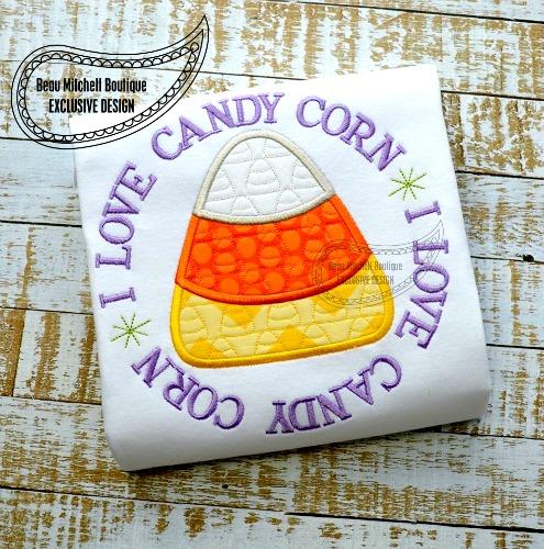 Love Candy Corn applique