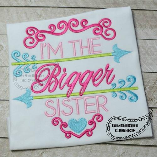 Bigger Sister arrow- BMB EXCLUSIVE embroidery design