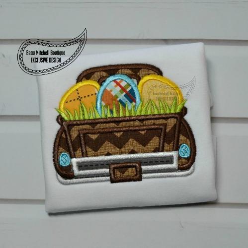Easter egg grass truck
