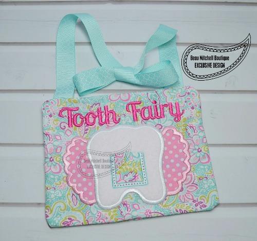 Girl Tooth pillow – In the hoop exclusive design