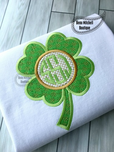 Clover monogram applique
