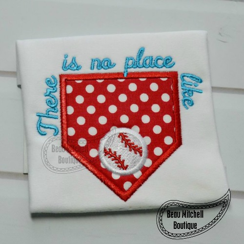 No place like (home plate) applique