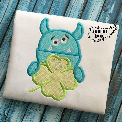 St. Patrick's monster applique