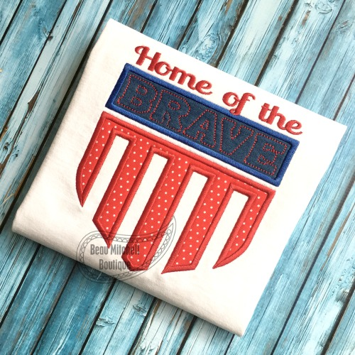 Home of the Brave applique