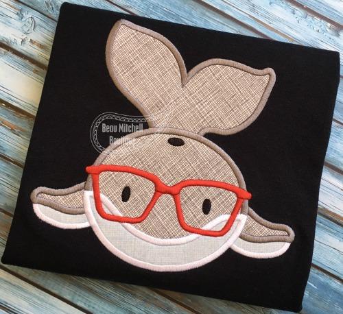 Whale Glasses applique