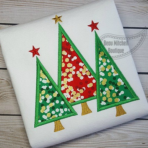 3 Trees applique