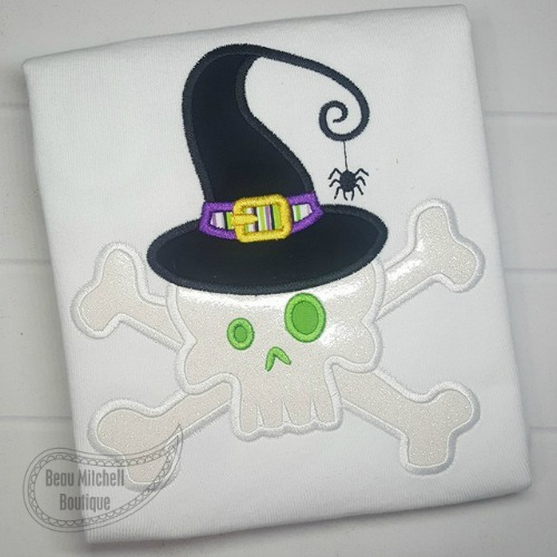 Skull Hat applique