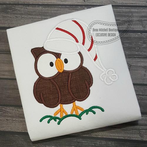 Christmas Owl applique