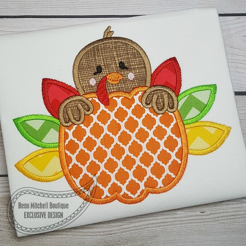Pumpkin Turkey applique