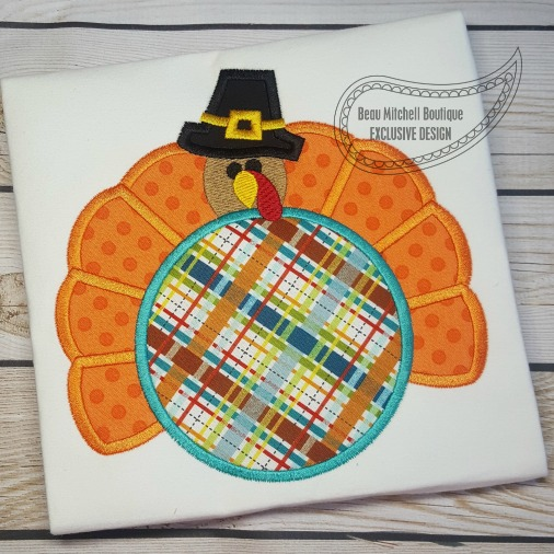 Pilgrim Turkey Circle applique