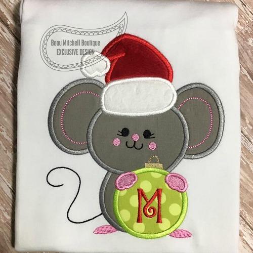 Christmas Mouse applique