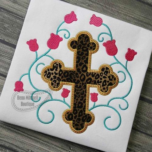 Cross swirl flowers