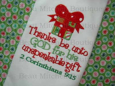 2 Corinthians with applique gift