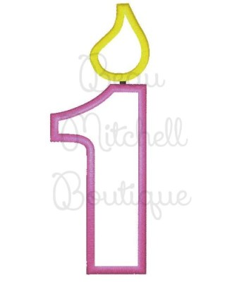 Birthday Candle Number Set 1 5