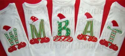Santa Elf Alpha embroidery design