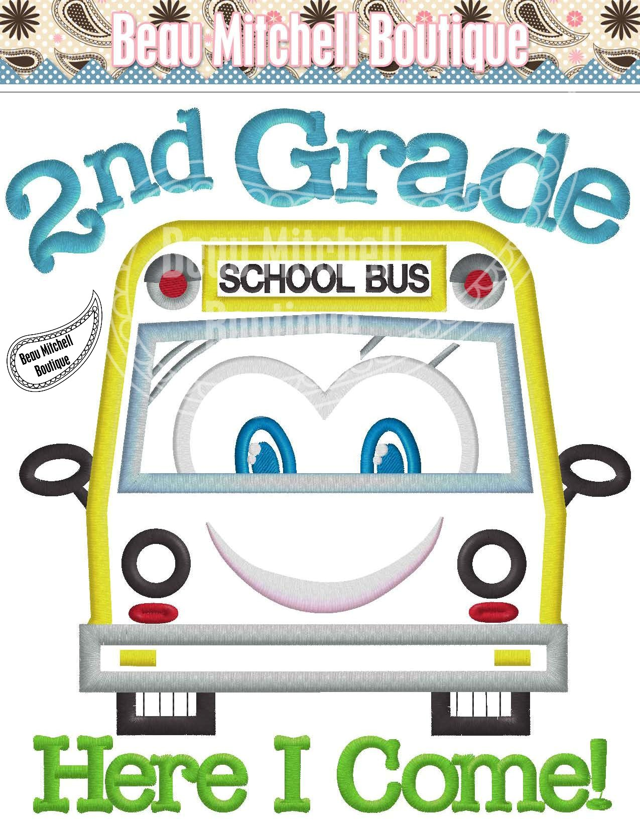 worksheet 2nd Grade 2nd grade here i come with a bus beau mitchell boutique bus