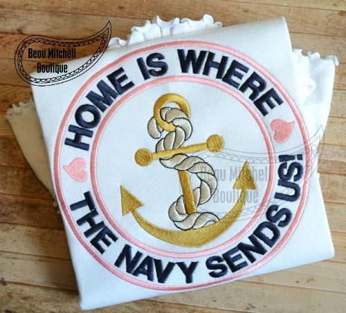 Home is where the navy sends us!