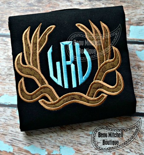 Antler Monogram applique
