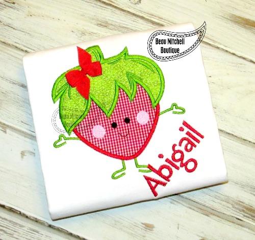 Mr. Strawberry applique