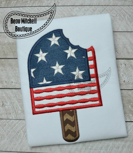 4th of July popsicle applique