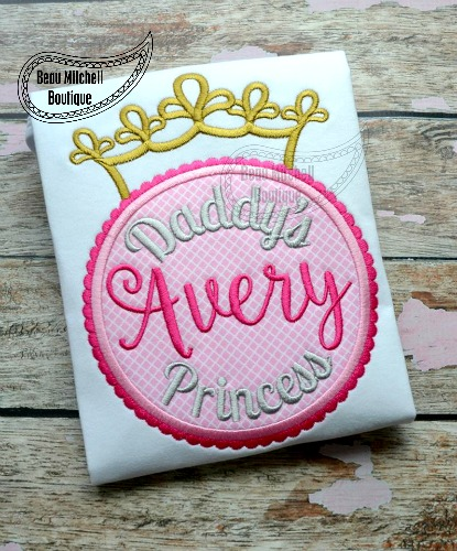 Princess Monogram applique