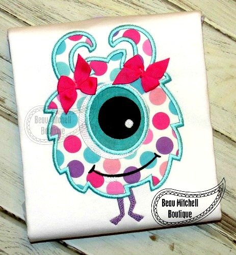 Puffy monster applique