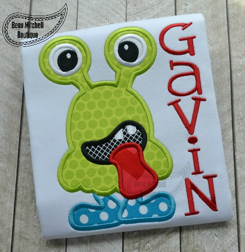 Two eye monster applique
