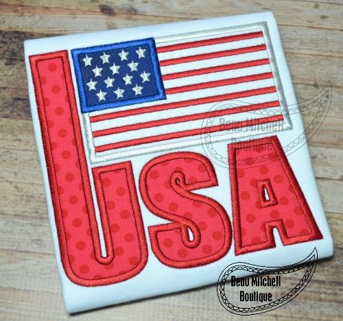 USA flag applique