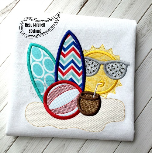 Summertime Sun applique