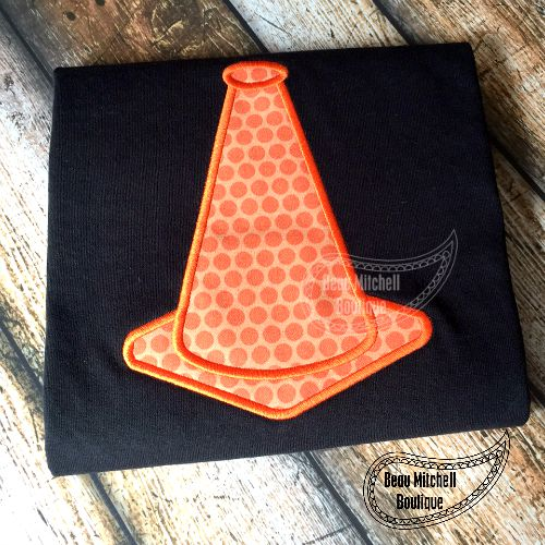 Construction Cone applique