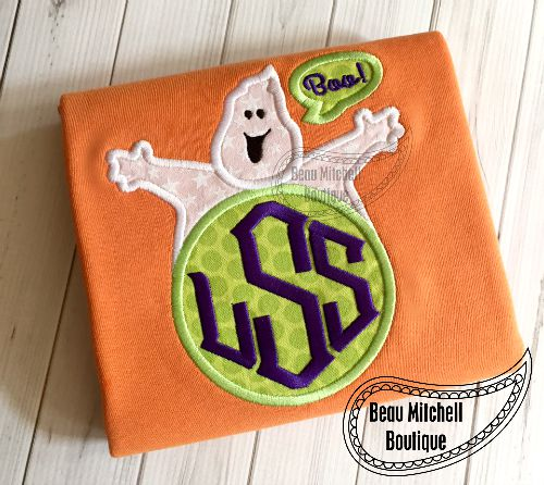 Ghost monogram applique