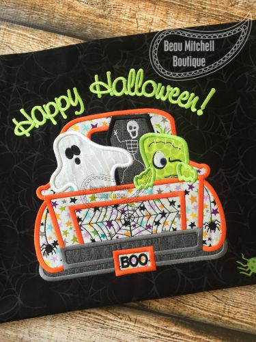 Halloween truck applique