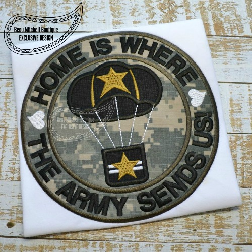 Home is where the Army sends us applique
