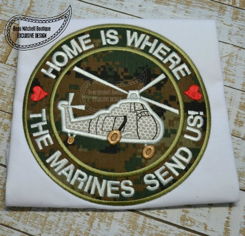 Home is where the Marines send us applique