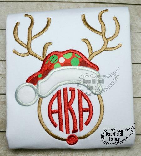 Reindeer Santa Monogram