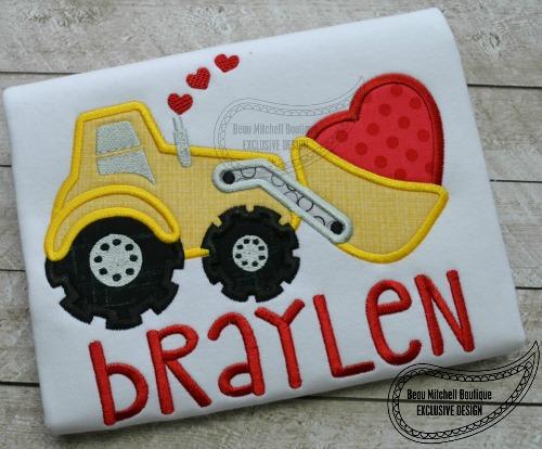 Valentine Loader Applique Beau Mitchell Boutique
