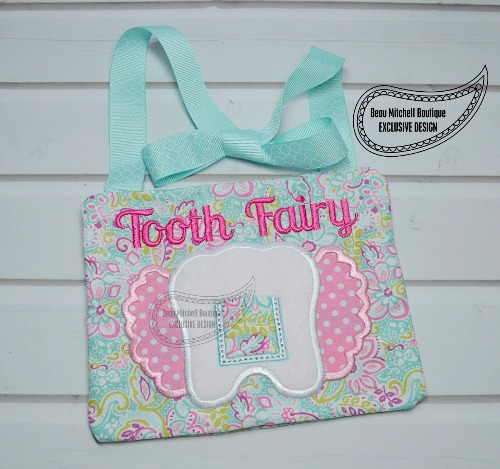 Girl Tooth pillow – In the hoop exclusive design
