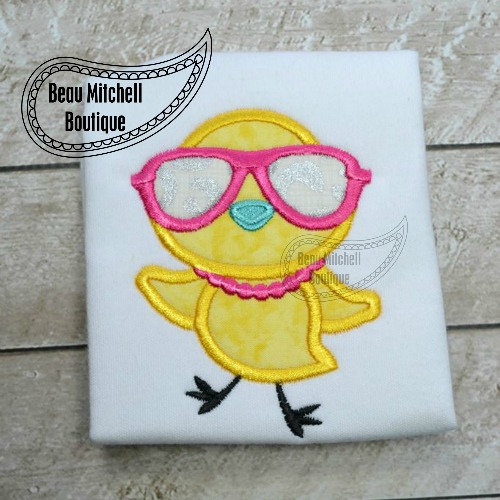 Chickette glasses applique