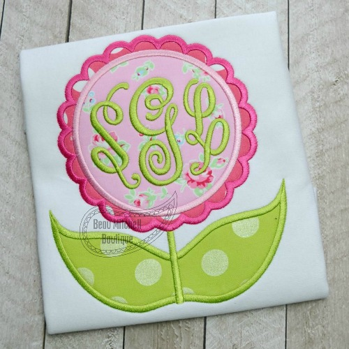 Spring flower applique