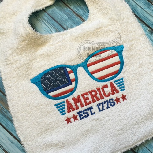 America glasses applique