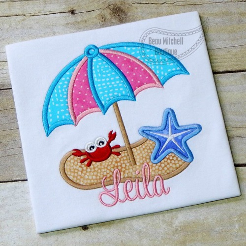 Beach Umbrella applique