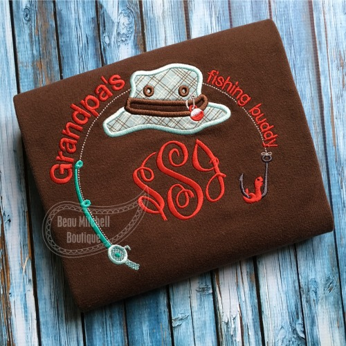 Grandpa's fishing buddy applique