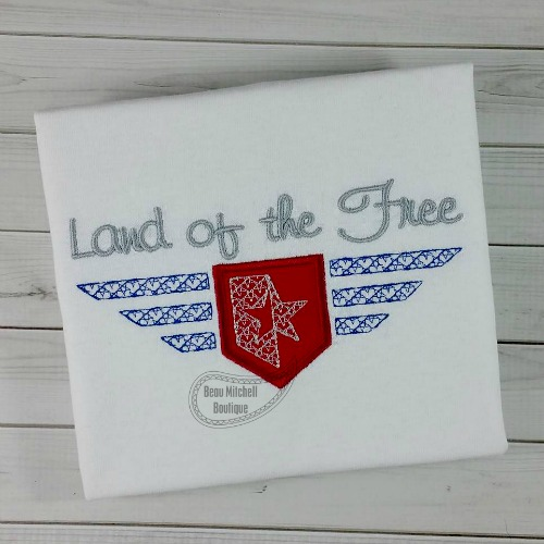 Land of the Free applique