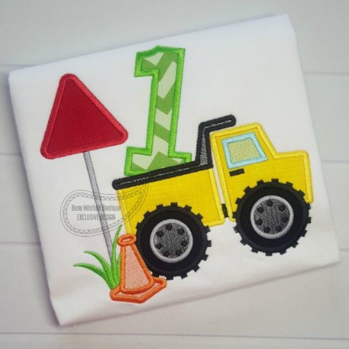 Construction number 1 Dump truck applique