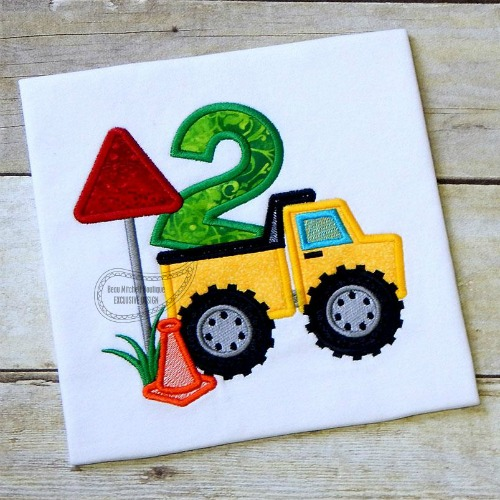 Construction number 2 Dump truck applique