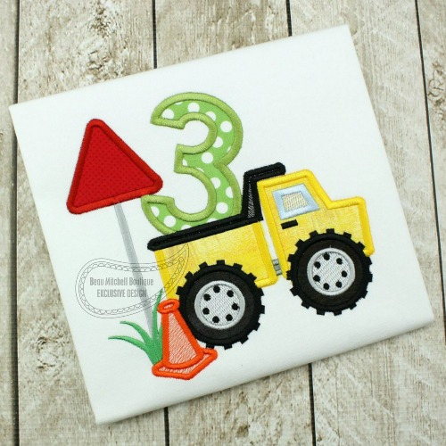 Construction number 3 Dump truck applique