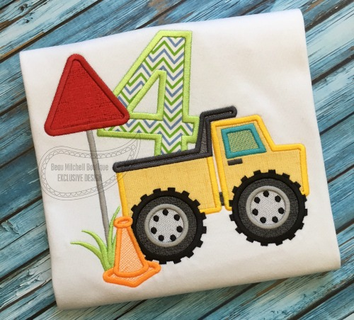 Construction number 4 Dump truck applique