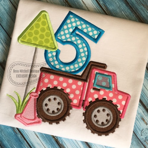 Construction number 5 Dump truck applique
